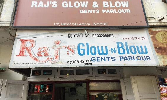 Raj Glow N Blow Mens Salon