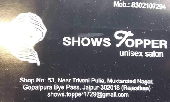Shows Topper Unisex Salon